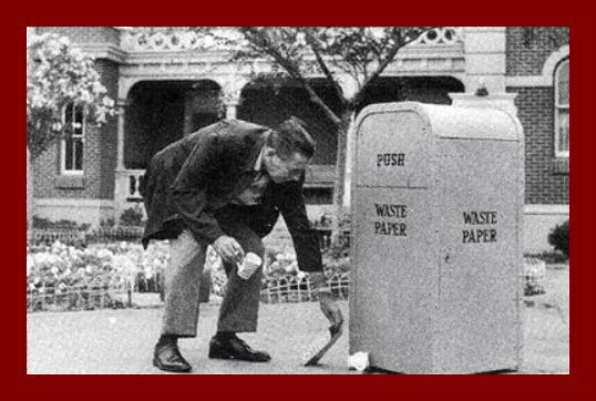 Walt Disney Picking Up Trash