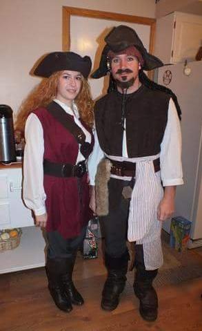 Jack Sparrow and Elizabeth Swann DIY Costumes